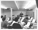Vernon Bashaw with typing class