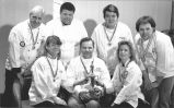 Culinary Arts team showing medals & trophy won in Semmering, Austria.