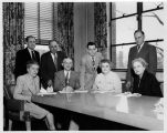 Dean Gilbert I. Renner with Faculty in 1950s