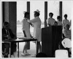 ECC Nursing Director Margaret Gabler Pins Nursing Student at Ceremony, circa 1972.