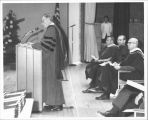 President Renner speaks at graduation, Circa 1969