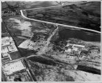 Aerial photo of initial construction of Spartan Campus, 1969.