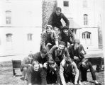 Students Form Human Pyramid, Lake Forest Academy, 1895