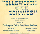 "Production of ""Ellsworth of the Zouaves"" Advertisement Placard, 1934"