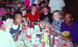Students from Lake Forest Academy Eating at a Restaurant, 1993