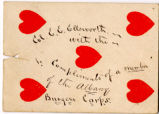 Card Sent From Member of the Albany Burgess Corps, circa 1850s