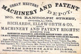 Advertisement Card for the Great Western Machinery and Patent Depot, Page 1, circa 1850s