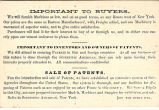 Advertisement Card for the Great Western Machinery and Patent Depot, Page 2, circa 1850s