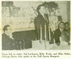 Chicago Bears at the Fall Sports Banquet, Lake Forest Academy, November 22, 1961