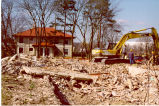 Bates House Dormitory Demolition, Lake Forest Academy, March 15, 1999