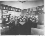 Model Art Museum with Students 1938