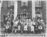 Northbrook School Students by Building Circa 1930s