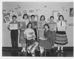 Students with Seurat Artwork at Crestwood School 1950s