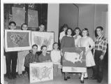 Crestwood Elementary School Students with Maps 1961