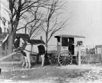Roscoe's first rural mail wagon