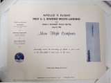 Apollo 11 Flight - Moon Flight Certificate1
