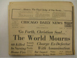 Newspaper Chicago Daily News