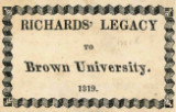 Richards' legacy to Brown University