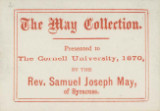 May Collection Presented to The Cornell University