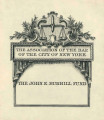 Association of the Bar of the City of New York, John E. Burrill Fund
