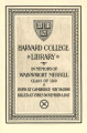 Harvard College Library in memory of Wainwright Merrill