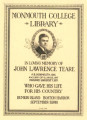 Monmouth College Library, in memory of John Lawrence Teare