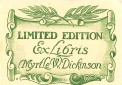 Myrtle W. Dickinson, limited edition 6