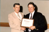 Gale Holford Receiving Certificate of Training