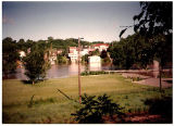 View of Galena's West Side During Flood of 1993