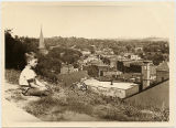 Dickie Gillette looking over Galena, Ill. from Prospect Hill