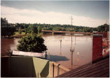 View of Galena River Flood of 1993, with closed floodgates