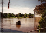 View of Galena River Flood of 1993 on Riverside Drive near War Memorial