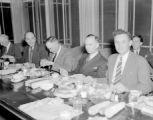 Men at banquet