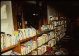 A view of the Joliet Public Library after the April 19, 1989 firebombing; looking from a...