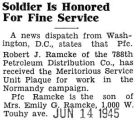 Soldier Is Honored For Fine Service
