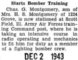 Starts Bomber Training