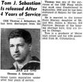 """Tom. J. Sebastian Is Released After Four Years Of Service"" (Photograph)"