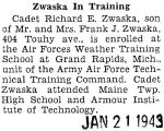Zwaska In Training