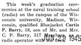 Barry participated in graduation ceremonies at the Univerity of Wisconsin in Madison