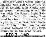 Bernard stationed in Alaska and attending school