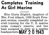 Completes Training As Girl Marine