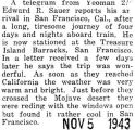 Edward Sauer arrived at Treasure Island Barracks in San Francisco after a four day train ride