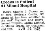 Crooks is Patient at Miami Hospital
