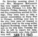 Fireman first class John McCormick and five companions arrived in Chicago on January 10