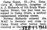 Genevieve Richards was assigned to Camp Grant, a medical replacement training center