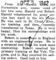 Harold Kerr transferred to Texas with the Army Air corps