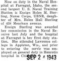 Helen Sterling was stationed at the Naval Hospital in Farragut, Idaho