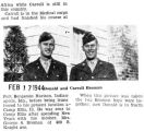 Information on where Donald and Carroll  Broman are stationed (Photograph)