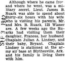 James Ruark was able to see his wife for thirty-six hours before leaving to an undisclosed place
