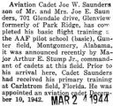 Joe Saunders completed basic flight training at Gunter Field in Montgomery, Alabama